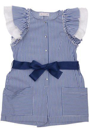 MONNALISA Stripes Cotton Blend Jumpsuit