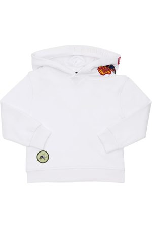 Dsquared2 Cotton Sweatshirt Hoodie W/ Patches