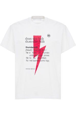 Neil Barrett Thunderbolt Print Cotton Jersey T-shirt