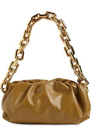 Bottega Veneta Women Shoulder Bags - Metal Chain Leather Shoulder Bag