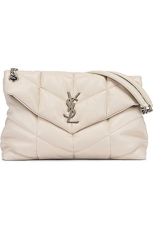 Saint Laurent Women Purses - Medium Monogramme Puffer Loulou Shoulder Bag in Neutral