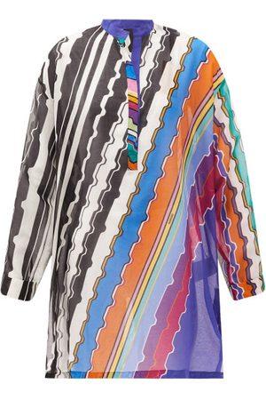 Missoni Women Beach Dresses - Striped Cotton-poplin Kaftan - Womens - Multi