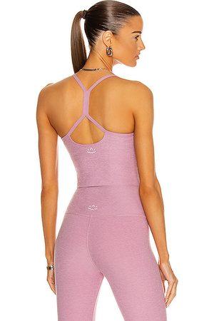 Beyond Yoga Women Tank Tops - Spacedye Slim Racerback Cropped Tank in Pink