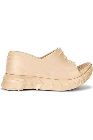 Givenchy Women Wedges - Marshmallow Slider Wedge Sandals in Neutral
