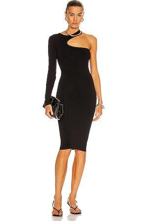 Helmut Lang Women Casual Dresses - Seamless Jersey Cutout Dress in