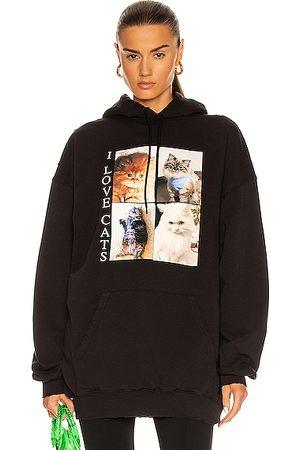 Balenciaga I Love Cats Medium Fit Hoodie in