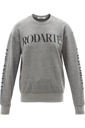 RODARTE Logo-print Jersey Sweatshirt - Womens - Grey
