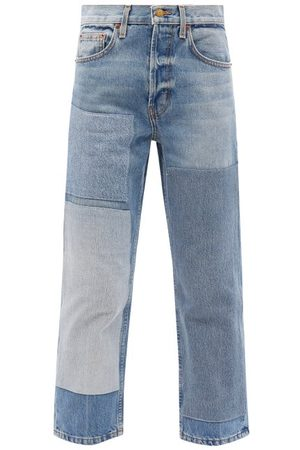 B SIDES Women Straight - Marcel Upcycled Patchwork Straight-leg Jeans - Womens - Denim