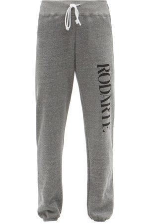 RODARTE Logo-print Fleeceback-jersey Track Pants - Womens - Grey