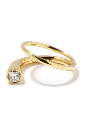 Kat Kim Grande Crescendo Diamond & 18kt Ring - Womens