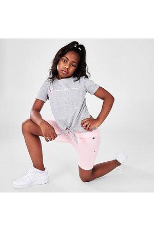Champion Girls Sets - Girls' Little Kids' Tie-Front Script T-Shirt and Bike Short Set Size 4 Knit