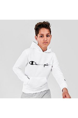 Champion Kids' Tricolor Script Logo Pullover Hoodie Size Small Knit