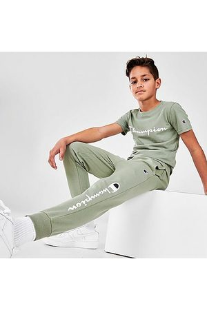 Champion Tracksuits - Kids' Script French Terry Jogger Pants in /Ecology Size Small Cotton/Polyester