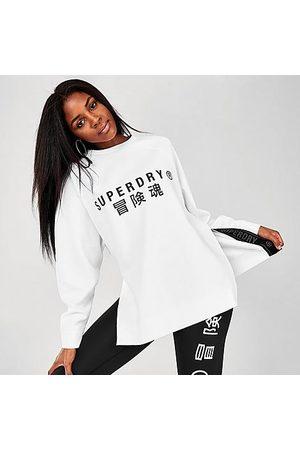Superdry Women Sweatshirts - Women's Graphic Crewneck Sweatshirt in / Size 8 Cotton