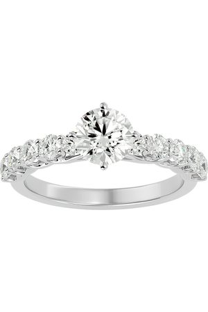 SuperJeweler Women Rings - 1 3/4 Carat Moissanite Engagement Ring in 14K (4 g)
