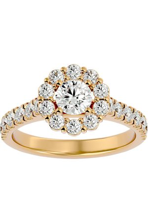 SuperJeweler Women Rings - 1.5 Carat Halo Diamond Engagement Ring in 14K (3 1/2 g) (