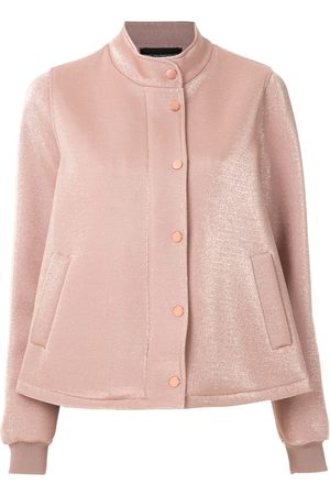 Emporio Armani Metallic-sheen contrast fitted jacket
