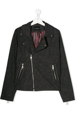 John Richmond Junior TEEN studded biker-style jacket - Grey