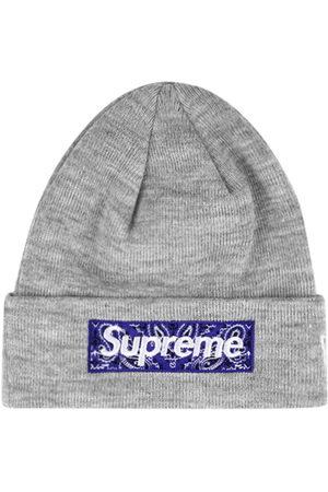 Supreme Women Beanies - X New Era Bandana Box Logo beanie - Grey