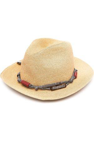 ERES Women Hats - Bead-embellished woven hat - Neutrals