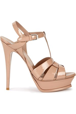 Saint Laurent Tribute 100 blush leather sandals