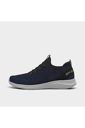 Skechers Men Flat Shoes - Men's Elite Flex - Karnell Slip-On Walking and Training Shoes in /Navy Size 7.5 Knit