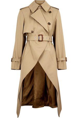 Alexander McQueen Women Trench Coats - Sand cotton-twill trench coat