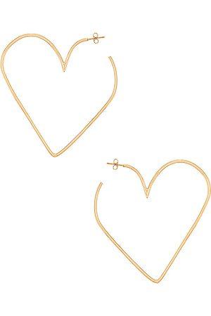 Isabel Marant Shiny In Love Heart Earrings in Metallic Gold