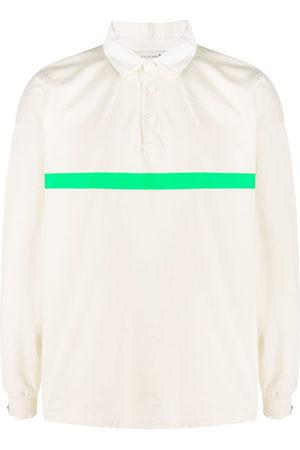 MACKINTOSH Contrast-stripe long-sleeve polo shirt - Neutrals