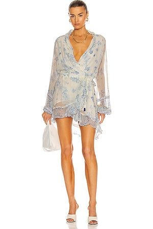 ROCOCO SAND Leas Long Sleeve Mini Dress in
