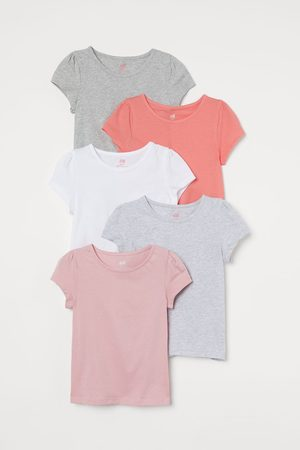 H&M Kids Tops - 5-pack Puff-sleeved Tops