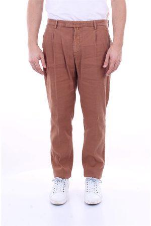 Briglia 1949 Regular Men Cinnamon linen cotton elastane