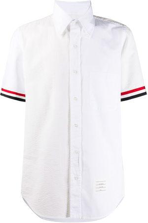 Thom Browne RWB-stripe short-sleeve shirt