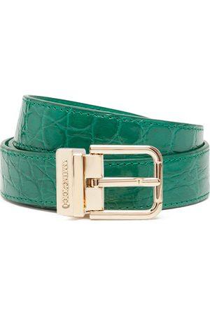 Dolce & Gabbana Engraved-buckle leather belt