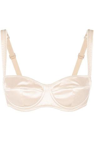 Dolce & Gabbana Women Balconette Bras - Stretch-silk balconette bra - Neutrals