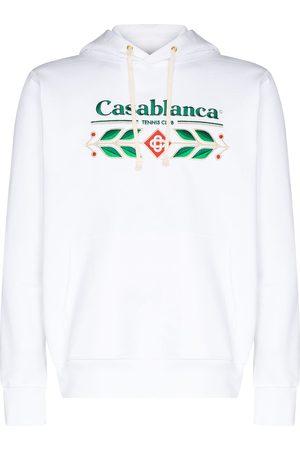 Casablanca Men Hoodies - Laurel logo-embroidered hoodie