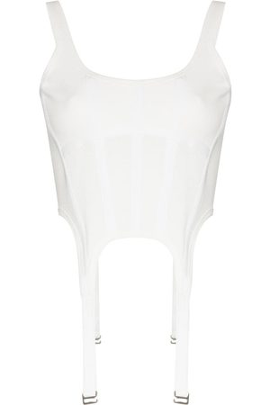 DION LEE Women Tank Tops - Panelled corset top