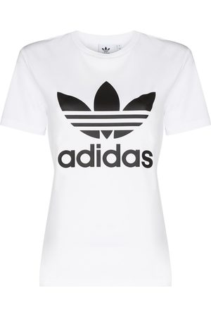 adidas Women Sports T-shirts - Logo-print short-sleeve T-shirt