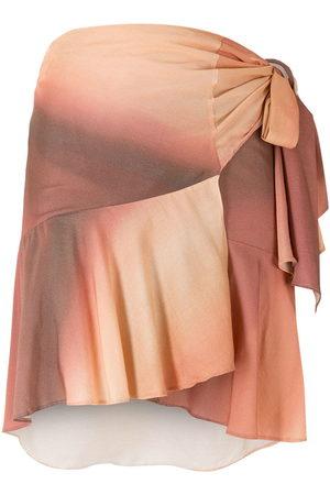 AMIR SLAMA Paneled gradient wrap skirt - Neutrals