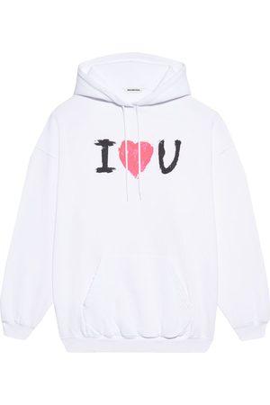 Balenciaga I Love U print oversized hoodie