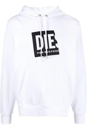 Diesel Logo-print organic cotton hoodie
