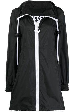 Diesel Women Parkas - Two-tone short parka coat