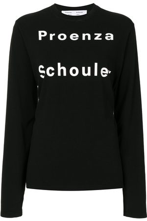 PROENZA SCHOULER WHITE LABEL LONG SLEEVE LOGO T-SHIRT