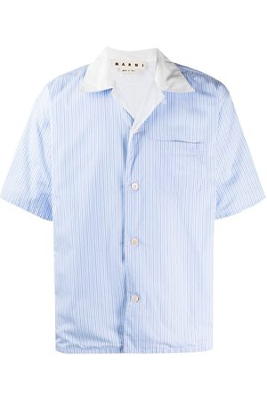 Marni Men Short sleeves - Pinstripe short-sleeve shirt