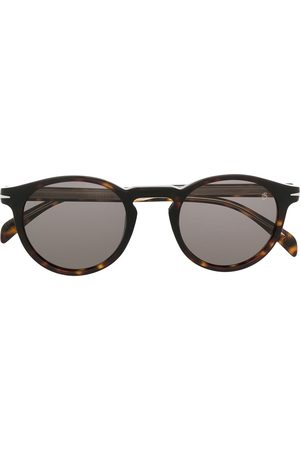 DB EYEWEAR BY DAVID BECKHAM Tortoiseshell-effect round-frame sunglasses