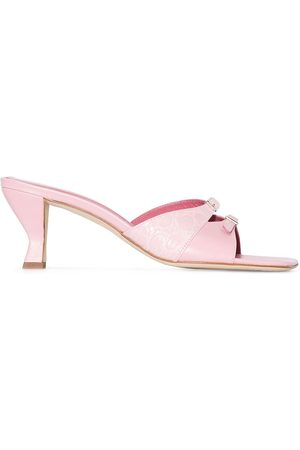 By Far Women Mules - Noor 75mm leather mules