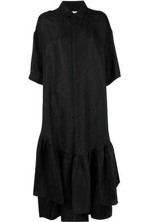 Ami Ruffle-detailing shirtdress
