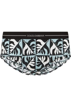 Dolce & Gabbana Men Boxer Shorts - Geometric-print cotton briefs