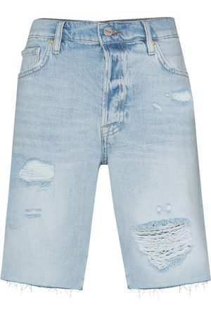Frame Le Slouch distressed Bermuda shorts
