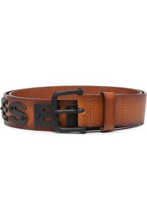 Diesel Men Belts - Screwed logo plaque belt